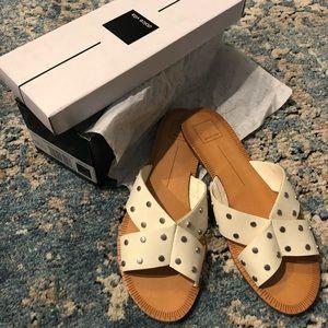 Dolce Vita White Studded Stella- NEW with Box!